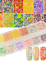 12Colors/Box Artistic Snowflake Nail Decoration Powder DIY Nail Salon