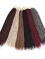 Drejede Fletninger Hårkrøller Hæklede fletninger Krøllet Island Twist 100 % Kanekalon hår Rødblondt Medium Rødbrun Afbleget Blond