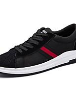 Da uomo Scarpe PU (Poliuretano) Primavera Autunno Comoda Sneakers Lacci Per Casual Nero Bianco/nero