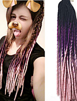 Pre-loop Crochet Braids Hair Braid Crochet Ombre Braiding Hair Dreadlock Extensions 100% Kanekalon Hair Black/Green Black/Purple