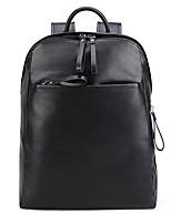 Unisex Bags All Seasons Cowhide Backpack for Casual Black