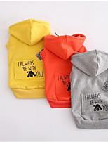 Cane Felpe con cappuccio Abbigliamento per cani Casual Lettere & Numeri Arancione Grigio Giallo