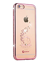 Para iPhone 6 iPhone 6 Plus Case Tampa Com Strass Galvanizado Capa Traseira Capinha Animal Macia PUT para Apple iPhone 6s Plus iPhone 6