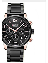 Men's Dress Watch Fashion Watch Casual Watch Chinese Quartz Calendar Chronograph Water Resistant / Water Proof Stainless Steel Band