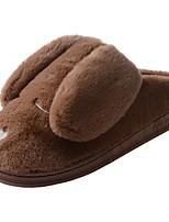 Men's Shoes Velvet Winter Fur Lining Fluff Lining Slippers & Flip-Flops Pom-pom For Casual Brown Gray