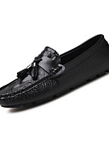 Men's Shoes PU Spring Fall Comfort Loafers & Slip-Ons For Casual Office & Career Blue Black White