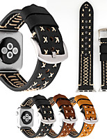 cheap -For Apple Watches Series 1 2 3 Genuine Leather Handmade Watchbands Unique Watch Replacement Sport Band Wrist Bracelet Strap