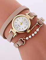 Women's Fashion Watch Bracelet Watch Quartz PU Band Cool Casual Black White Beige Rose