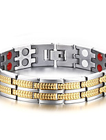 Men's Chain Bracelet Bangles Natural Fashion Titanium Steel Circle Jewelry Jewelry For Gift Daily
