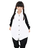 Kigurumi Pajamas Panda Festival/Holiday Animal Sleepwear Halloween Fashion Solid Color Embroidered Flannel Fabric Cosplay Costumes