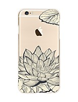 economico -Custodia Per Apple iPhone X iPhone 8 Transparente Fantasia/disegno Per retro Fiore decorativo Morbido TPU per iPhone X iPhone 8 Plus