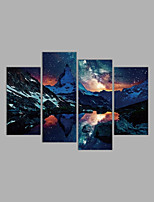 Canvas Print Abstract,Four Panels Canvas Horizontal Print Wall Decor For Home Decoration