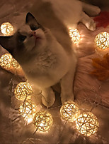 White Rattan Balls LED Lights String 5M x 20 LEDs Beter Gifts® DIY Wedding Party Decors