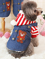 Dog Hoodie Dog Clothes Casual/Daily Stripe Blue Red Orange