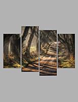 Leinwanddruck Abstrakt,Vier Panele Leinwand Horizontal Druck Wand Dekoration For Haus Dekoration
