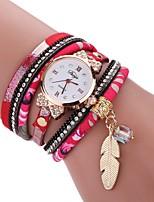 Damen Modeuhr Armband-Uhr Simulierter Diamant Uhr Chinesisch Quartz Imitation Diamant PU Band Böhmische Bettelarmband Elegante Bequem