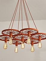 Seven Heads Macaron Orange Color Vehicle Wheel Pendant Lamp for the Living Room / Bedroom /Canteen Room Decorate Creative Drop Light