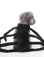 Cat Dog Costume Dog Clothes Party Cosplay Halloween Solid Black