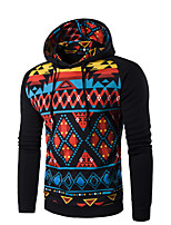 Men's Sports Going out Hoodie Solid Print Hooded Micro-elastic Cotton Others Long Sleeve Spring Fall
