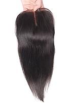 7a chiusura brasiliana del merletto diritto di chiusura dei capelli umani 4x4 vergini nodi di nocciola chiusura del merletto di parte