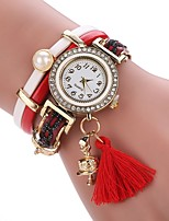 Women's Fashion Watch Bracelet Watch Unique Creative Watch Chinese Quartz PU Band Vintage Charm Elegant Casual Black Blue Red Brown