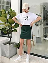 T-shirt Gonna Completi abbigliamento Da donna Per uscire Semplice Estate,Con stampe Rotonda Manica corta