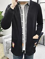 Standard Cardigan Da uomo-Spiaggia Con stampe A V Manica lunga Altro Primavera Autunno Medio spessore Media elasticità