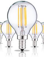 5pcs E14 G45 4W LED Filament Bulbs 4 COB 360LM Warm/Cool White Vintage Edison Bulb AC220-240V