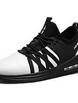Men's Shoes Fabric Spring Fall Comfort Light Soles Athletic Shoes Lace-up For Athletic Outdoor Black/White Red Black