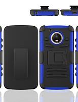 Недорогие -Кейс для Назначение Moto G / Motorola Защита от удара / со стендом Кейс на заднюю панель броня Твердый ПК для Moto G5