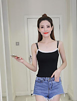 Women's Casual/Daily Simple Tank Top,Solid Strap Sleeveless Others