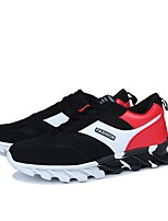 Men's Shoes PU Spring Fall Comfort Sneakers Lace-up For Casual Black/Red Black/White Gray