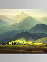 Hand-Painted Landscape Horizontal,Modern One Panel Canvas Oil Painting For Home Decoration