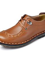 Da uomo Scarpe Finta pelle Pelle Primavera Autunno Comoda Sneakers Più materiali Per Casual Nero Marrone chiaro Marrone scuro