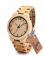 Men's Dress Watch Fashion Watch Casual Watch Chinese Quartz Chronograph Water Resistant / Water Proof Wood Band Charm Luxury Elegant