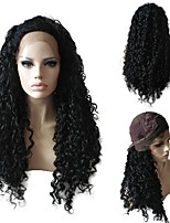 Women Synthetic Wigs Lace Front Long Curly Afro Black African American Wig For Black Women With Baby Hair Party Wig Halloween Wig Natural