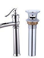 Centerset Electroplate , Bathroom Sink Faucet