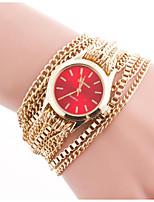 Per donna Orologio braccialetto Quarzo Metallo Banda Ciondolo Oro
