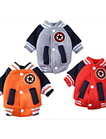 Dog Sweatshirt Dog Clothes Casual/Daily Geometic Red Gray Orange