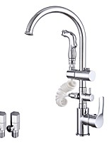Contemporary Vessel Widespread Rotatable with  Ceramic Valve Chrome , Kitchen faucet