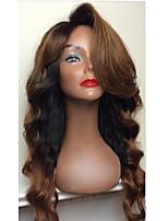 жен. Парики из натуральных волос на кружевной основе Бразильские волосы Натуральные волосы Полностью ленточные 130% плотность Стрижка