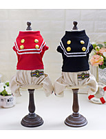 Dog Costume Shirt / T-Shirt Dog Clothes Casual/Daily Cosplay Geometric Red Black