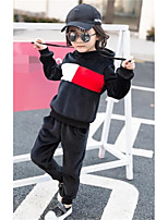 Girls' Patchwork Sets,Polyester Spring Fall Long Sleeve Clothing Set