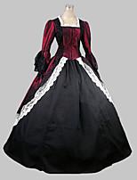 Victorian Rococo Female One-Piece/Dress Red Cosplay Satin Sleeveless Floor Length
