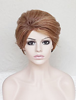 Women Synthetic Wig Capless Short Natural Wave Strawberry Blonde With Bangs Party Wig Natural Wigs Costume Wig