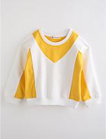 Girls' Color Block Blouse,Cotton Winter Long Sleeve