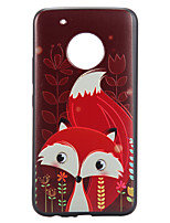 Case For Motorola Moto G5 Plus Case Cover Fox Pattern Relief Back Cover Soft TPU