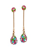 Women's Drop Earrings AAA Cubic Zirconia Bohemian Gold Plated Ball Jewelry For Party Birthday Daily Office & Career
