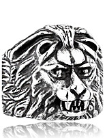 Men's Jewelry Animal Design Fashion Stainless Steel Titanium Steel Jewelry Lion Jewelry For Daily Casual