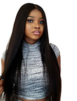 Women Human Hair Lace Wig Indian Remy Glueless Lace Front 130% Density With Baby Hair Straight Wig Black Long For Black Women Virgin